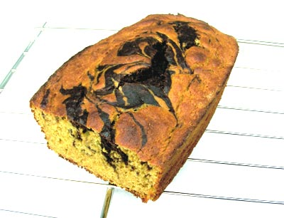 Fractalize your banana bread: Chocolate Fractal Banana Bread