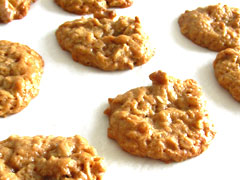 Tahini Oatmeal Wallnut Cookies
